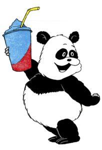 Panda met slush